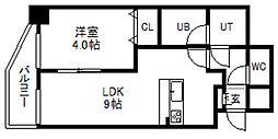 北海道札幌市中央区南四条東3丁目の賃貸マンションの間取り