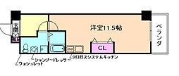 扇町第2マンション[2階]の間取り