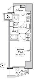 ニューガイア リルーム芝 9階1Kの間取り