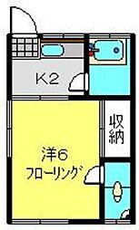 常盤台荘3号棟[9号室]の間取り