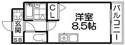 M'PLAZA香里弐番館[9階]の間取り