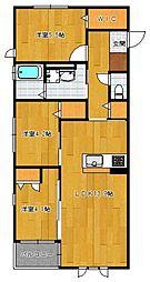 仮)野芥4丁目新築オートロック付アパート[204号室]の間取り