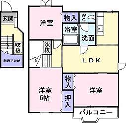 レジデンス21B[2階]の間取り