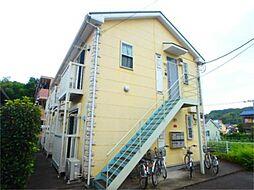 東京都八王子市東中野の賃貸アパートの外観