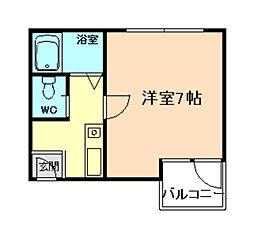 大阪府豊中市立花町3丁目の賃貸マンションの間取り