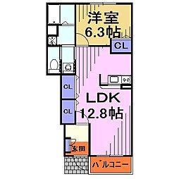 埼玉県川口市大字安行の賃貸アパートの間取り