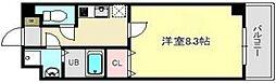 ラ・ルーナ新松戸 1階1Kの間取り