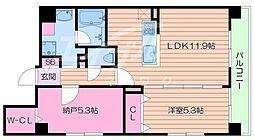 大阪府大阪市生野区鶴橋5丁目の賃貸マンションの間取り