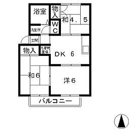 プレジール平田[101号室]の間取り