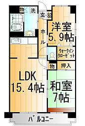 東京都練馬区貫井4丁目の賃貸マンションの間取り
