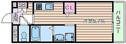 仮)森小路新築ハイツ 1階ワンルームの間取り