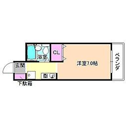 ドミールキタヤマ[4階]の間取り