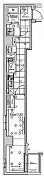 ラフィスタ錦糸町II 3階1Kの間取り