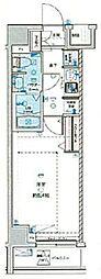 JR中央線 荻窪駅 徒歩14分の賃貸マンション 2階1Kの間取り