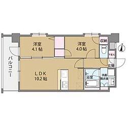 クリスタル&リゾートスカイプレミア[7階]の間取り