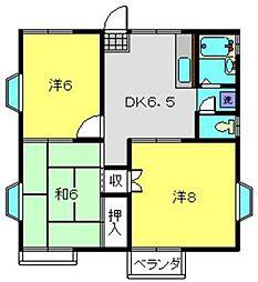 マロンハイムF[2階]の間取り
