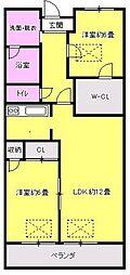 福岡県太宰府市坂本3の賃貸マンションの間取り