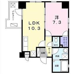 木場ビクトリーマンション 2階1LDKの間取り