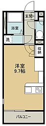 ミランダヴィーブルIV 56606 1階ワンルームの間取り