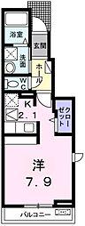 愛知県岡崎市真宮町の賃貸アパートの間取り