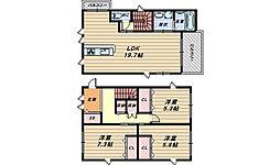 [一戸建] 大阪府堺市西区浜寺公園町3丁 の賃貸【/】の間取り