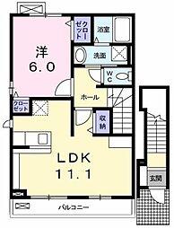 東京都武蔵村山市神明3丁目の賃貸アパートの間取り