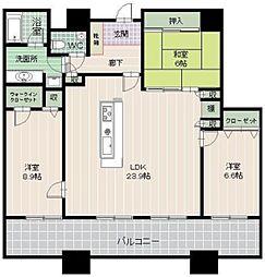 コアマンション大手門タワー[2402号室]の間取り