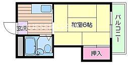 大阪府大阪市北区豊崎7丁目の賃貸マンションの間取り