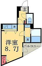 JR総武線 千葉駅 徒歩10分の賃貸マンション 7階ワンルームの間取り