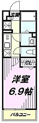 西武拝島線 武蔵砂川駅 徒歩8分の賃貸マンション 1階1Kの間取り