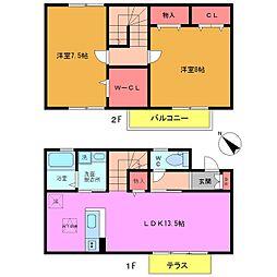 [テラスハウス] 千葉県市川市妙典2丁目 の賃貸【/】の間取り
