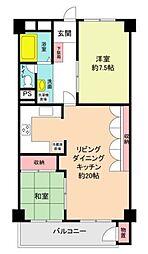 二俣川住宅[4階]の間取り