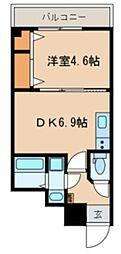 JR総武線 千葉駅 徒歩9分の賃貸マンション 1階1DKの間取り