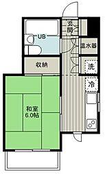 東武東上線 みずほ台駅 徒歩12分の賃貸マンション 5階1Kの間取り