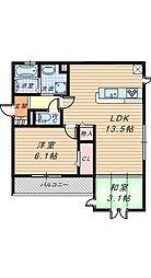 仮)D-room新金岡町5丁[2階]の間取り