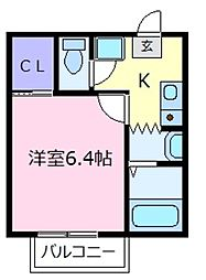 大阪府松原市天美西2丁目の賃貸アパートの間取り