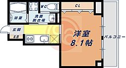 Osaka Metro四つ橋線 花園町駅 徒歩6分の賃貸マンション 6階1Kの間取り