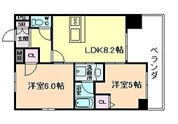 エステムプラザ梅田・中崎町IIIツインマークスSR[10階]の間取り