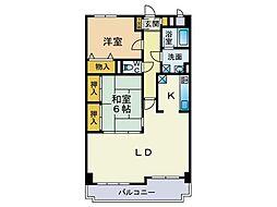 東風壱番館[2階]の間取り