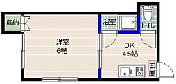 福岡県福岡市早良区小田部3丁目の賃貸アパートの間取り