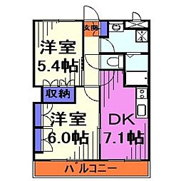 埼玉県川口市大字安行吉蔵の賃貸アパートの間取り