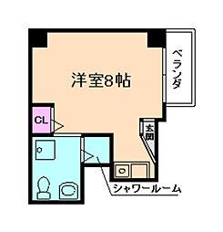 サンハイツ福島[2階]の間取り