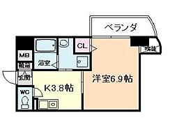 サンライト吉野[8階]の間取り