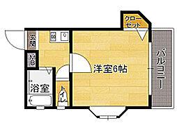 福岡県福岡市東区名島2丁目の賃貸マンションの間取り