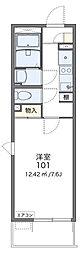 京成千葉線 みどり台駅 徒歩13分の賃貸マンション 3階1Kの間取り