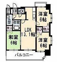 サンルーフパークマンション[5階]の間取り