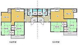 羽犬塚ガーデンハイツI[101号室]の間取り