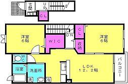 兵庫県加古郡播磨町南野添2丁目の賃貸アパートの間取り
