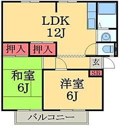 千葉県市原市惣社3丁目の賃貸アパートの間取り