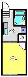 シティハイム本屋敷[103号室]の間取り